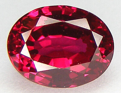 2,37CT. T. OVALE 8,8x6,8 MM. RUBIS SANG DE PIGEON CORINDON DE SYNTHESE