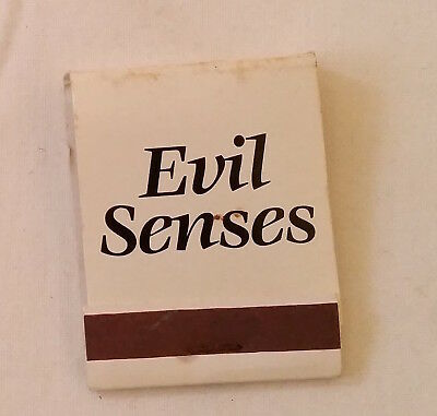 Vintage Matchbook Advertising Australian VHS Movies Evil Senses/Race to Danger