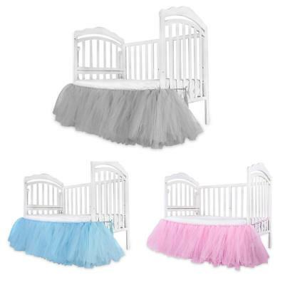 Crib Skirt Baby Bed Nursery Toddler Mattress Ruffled Breathable Cotton