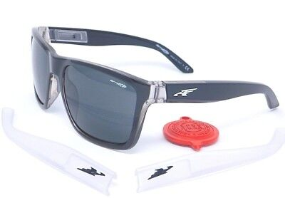 ca0ea0abd5 Arnette WITCH DOCTOR Sunglasses AN4177-06 2159/87 Black & Clear with Grey  lenses