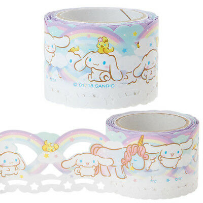 Cinnamoroll Lace style roll stickers Sanrio Made in Japan Kawaii Cute F/S NEW