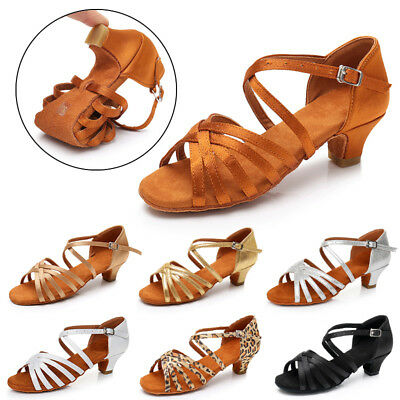 Children child Girl kids Women Ballroom Latin Salsa Tango Dance Dancing Shoes