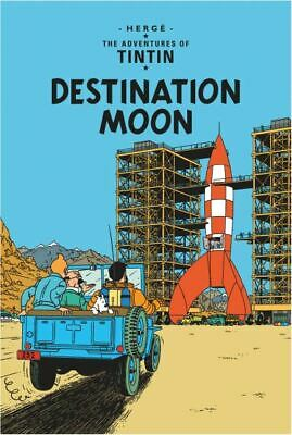 The adventures of Tintin: Destination moon by Herg (Paperback)