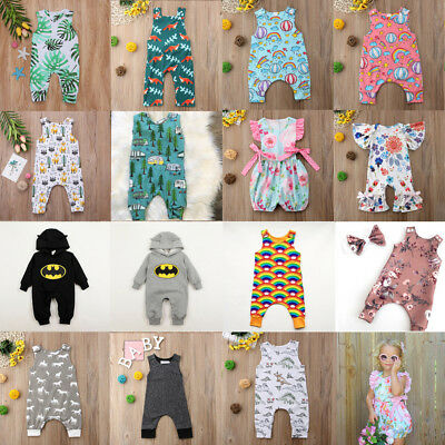 Lots Newborn Baby Boy Girl Long Romper Bodysuit Jumpsuit Summer Clothes Outfits