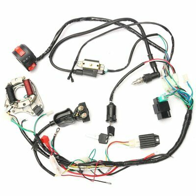 50cc-125cc Moto CDI Wiring Harness Loom Ignition Solenoid Coil Rectifier BA