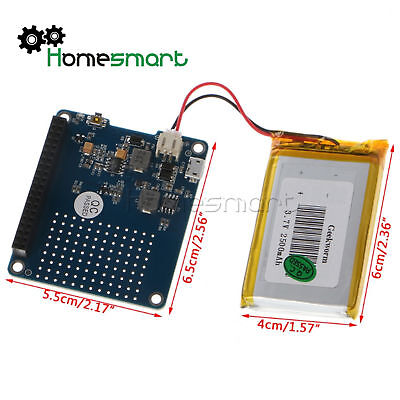 UPS HAT Power Source Extension Board with Battery  Raspberry Pi 3 Model B 2B AHS