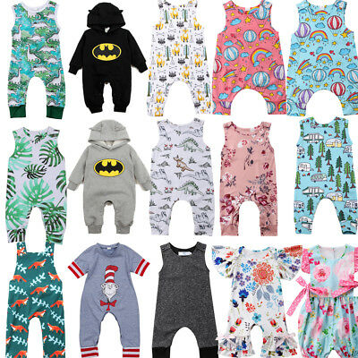 AU Newborn Kids Baby Boy Girl Romper Bodysuit Jumpsuit Clothes Outfit Sunsuit