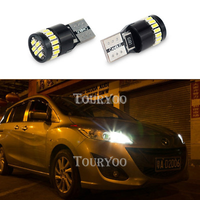 2x 24SMD 2825 W5W T10 921 175 168 194 White High Power Parking Lights LED CANbus