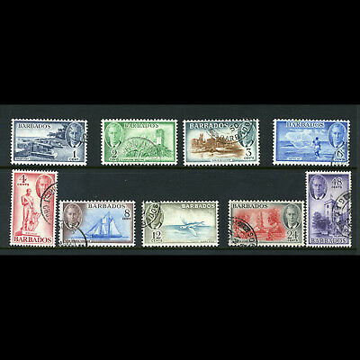 BARBADOS 1950 Short Set to 48c. SG 271-279. 9 Values. Fine Used. (AB605)