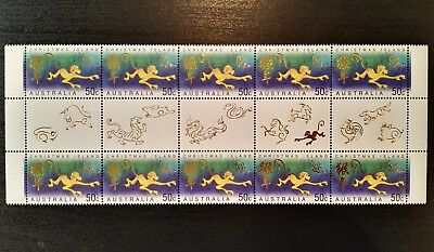 2004 Christmas Island Stamps - Year of the Monkey - Gutter Strip - MNH(#1)