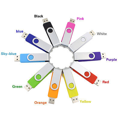 64GB 32GB 16GB 8GB USB Stick Swivel Rotation viele Farben Flash Memory Stick lot