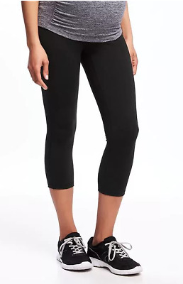 Old Navy Active NWT NEW Maternity High-Rise Compression Crop Black Legging Small