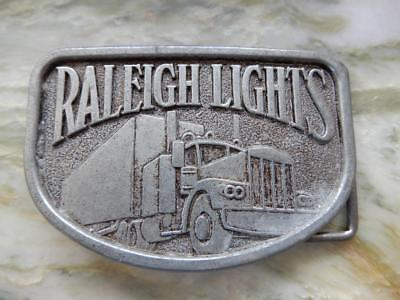 Raleigh Lights,  Vintage Truck, Silver Metal Belt Buckle **Special*** (RB20181a)