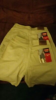 2 Pair New  Wranglershorts relaxed fit mens size 30 Tan