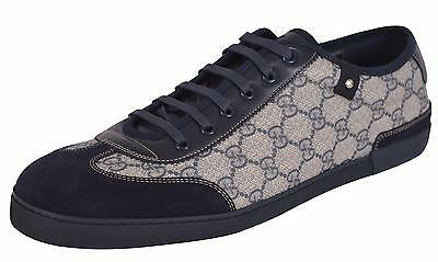 210b665e5fc NEW Gucci 204282 GG Plus Coated Canvas Suede Sneakers Trainers Shoes 14.5 G