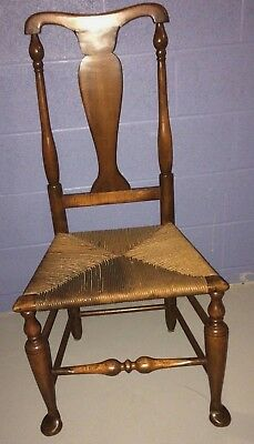 C. 1750 Antique 18th Century American Hudson River Valley Queen Anne Chair