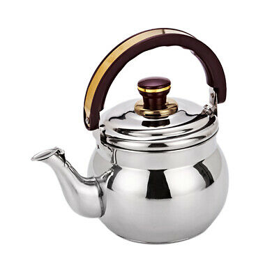 Whistling Kettle Stainless Steel Teapot Stovetop Fast Boil Water Coffee 0.6L