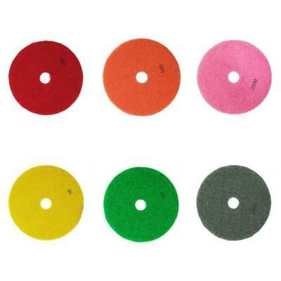 6pcs Diamond Polishing Pads 3inch Wet/Dry for Granite Marble Concrete Stone