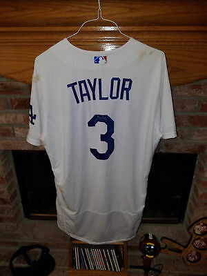 a8b4c3d2848 Los Angeles Dodgers Chris Taylor MLB Game Used - Game Worn Auto. Home Jersey