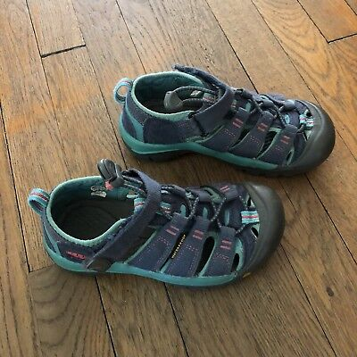 7131d5ac440e Keen Newport Big Kids Size 1 Turquoise Waterproof Sandals Hiking Shoe