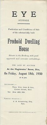 EYE : 1950 Freehold  Dwelling House   -sale particulars