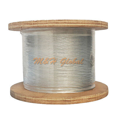 "1000 Ft 1/8"" 1x19 Cable Rail Wire Stainless Steel 316 Extra Corrosive Resistance"