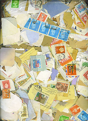 1000+ Mixed World Stamps On Paper
