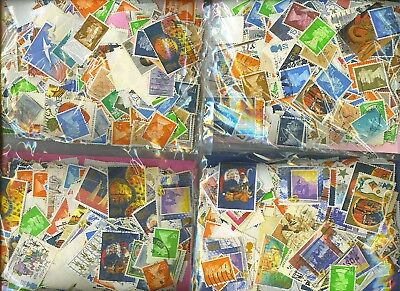 25,000+ Mixed British, Uk, English, Great Britain Stamps Off Paper