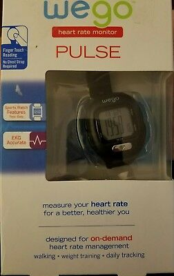 NIB WeGo Pluse Heart Rate Monitor Watch EKG Accurate Finger Touch Reader $30