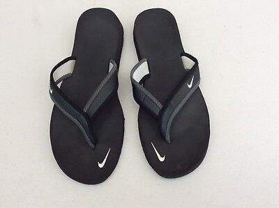37d72eb75b743 NIKE Ultra Celso Thong women sandal flip-flop thong lightweight black Sz. 9
