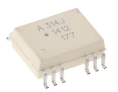 3.75kV Dual Optocoupler DC-In 0.4A IGBT Gate Drive SMD SO-16 HCPL-314J-000E