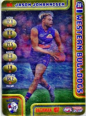 2018 Teamcoach Gold Cards Western Bulldogs Choose Your Card