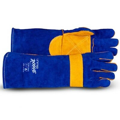 Unimig 'Rogue' Blue Welding Gloves with Kevlar Stitching - 400mm Long - 12 Pairs