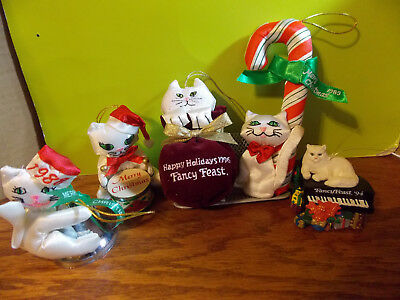 Vintage Fancy Feast Christmas Ornaments 1988, 1989, 1991, 1996, 1994  Unboxed E - 1988 FANCY FEAST Cat Christmas Ornament - Perfect Condition & So