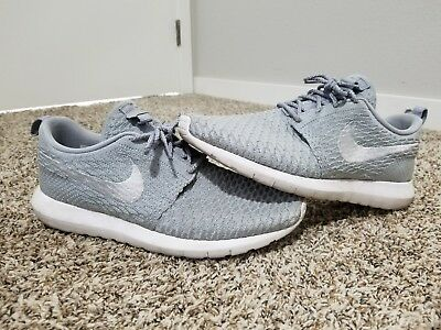 new arrival ee1af 3c3dd Nike Roshe Run Flyknit size 10.5 Wolf Grey authentic