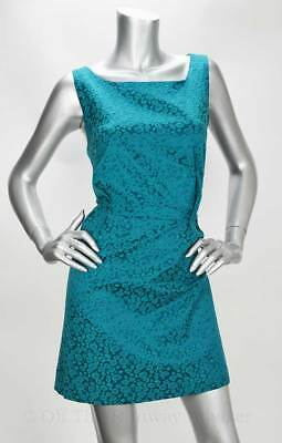 RETAIL $138 Kensie Deep Teal Side Zipped Square Neck Sleeveless Dress Size 6