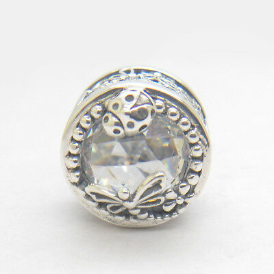 Authentic 925 Sterling Silver Enchanted Nature clear CZ Bead, NEW SPRING 2018