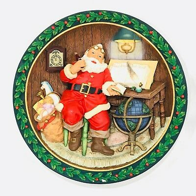 Vintage Coca Cola Santa Claus Good Boys And Girls 3D Plate 1994 w/ Wall Hanger