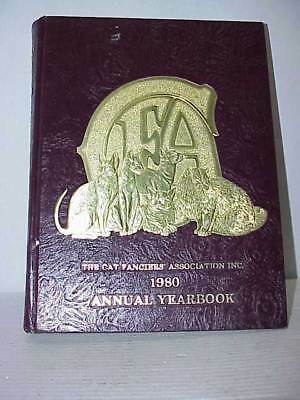 Cat Fanciers' Association 1980 Yearbook Leather Very Good Condition Free Ship