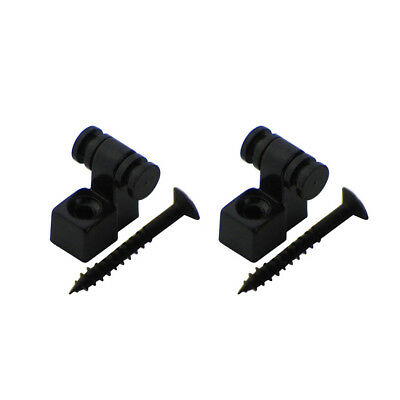 1 Pair of Electric Guitar String Retainers Roller String Trees Guide Metal Black