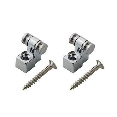 2PCS Chrome Electric Guitar String Retainers Roller String Trees Guide Metal