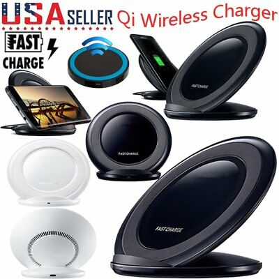 For Samsung Galaxy S9/ S9+ Plus Wireless Qi Fast Charger Charging Stand Dock USA