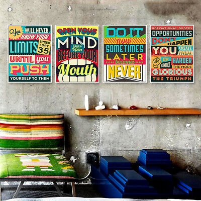 Vintage Motivational Inspire Quotes Poster Prints Canvas Art Home Decor Painting