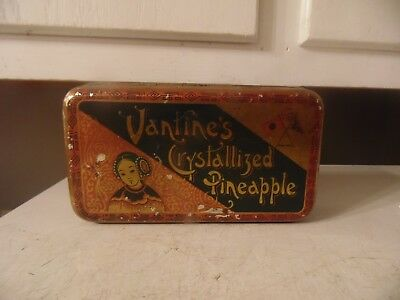 Vintage Advertising Aa Canton Crystallized Pineapple Tin Estate Find