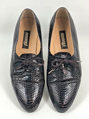 94169f9a751 Vtg Ennesi 23023 Brown Handcrafted Men s Lizard Loafers Size 10 Genuine  Reptile