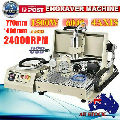 USB 4 Axis 1.5KW CNC 6040 Router Engraver Engraving Cutting Milling Machine + RC
