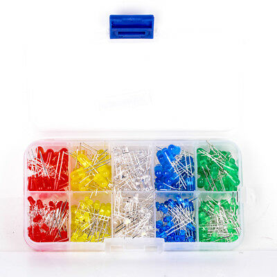 375pcs Round Head LED Emitting Diodes 3mm/5mm COLOURS Assortment Kit