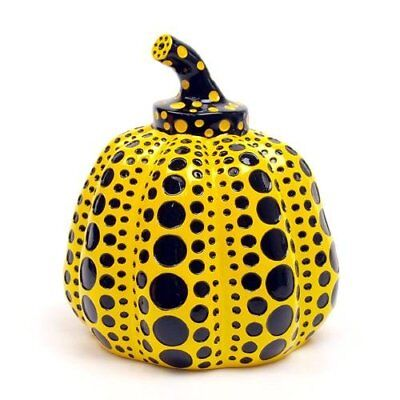 Yayoi Kusama Pumpkin Lammfromm Japan Artist Paperweight Object Sculpture Yellow