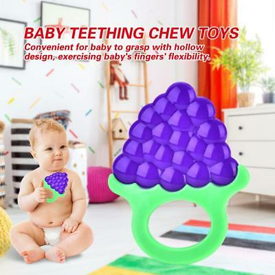Silicone Bendable fruit Teether ring Baby Train Toothbrush Infant Toddler Toy