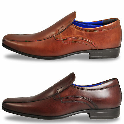 Red Tape Ulster Mens Leather Brown  Slip On Smart Formal Shoes New Size
